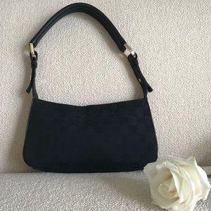 Black Gucci monogram shoulder bag